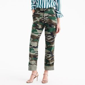 J Crew Camouflage Foundry Pants size 6 Madewell